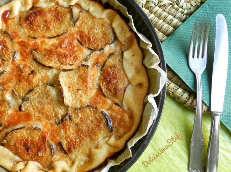 La Torta di Melanzane e Formaggio è un piatto unico completo