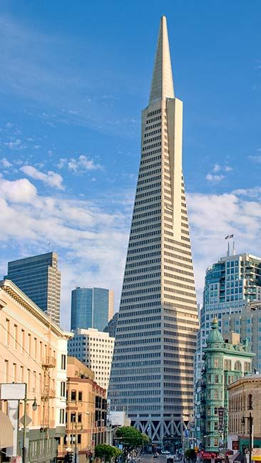 #SanFrancisco: the #TransamericaPyramid #TransamericaPyramidBuilding by William Pereira (construction: 1969 - 1972).
