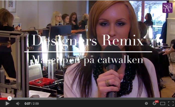 Backstage video: Designers Remix AW14. Helena Bruun interviewer Key Makeup Artist, Anne Staunsager, omkring makeup looket til showet,