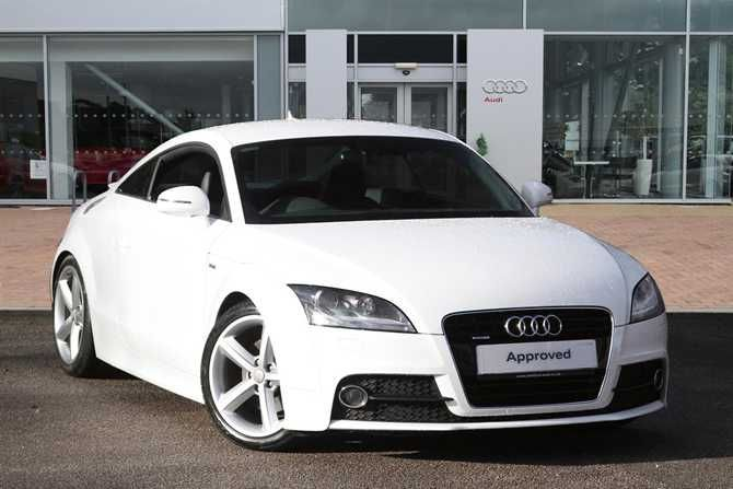 Used Audi TT Coupe in Ibis White For Sale at Stafford Audi