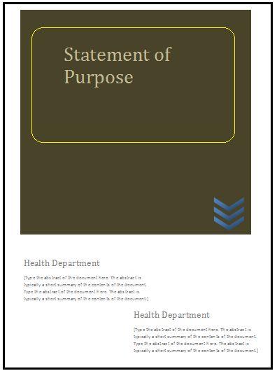 statement of purpose template
