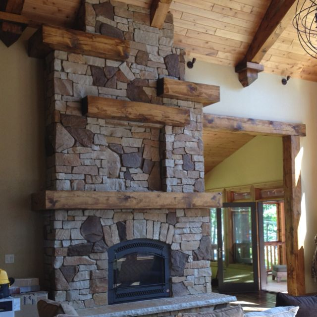 Wood Log Pieces As The Mantel Shelving One Or Small Ones All Way Up Country Cabins In 2018 Pinterest Cabin Fireplace Ca