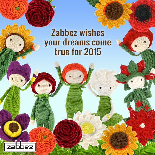 Zabbez crochet and amigurumi flower doll design 2015