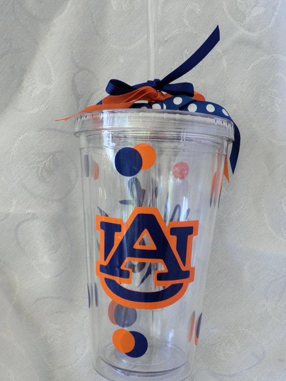 #Auburn University #WarEagle double-insulated acrylic #tumblers in my Etsy shop.  $10.00