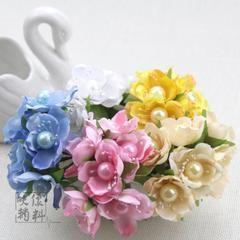 Поделки ручной искусственные цветы шелк цветок декоративные цветы Перл Плам цветовые комбинации съемки реквизит 4,6 юаней пачкой