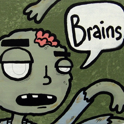 Zombie Want Brains - MagnetCrafts Ideas, Nom Zombies, Zombies Ready