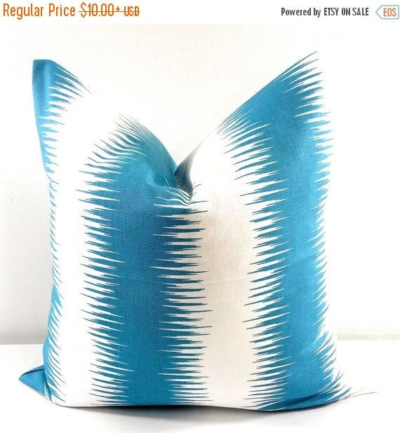 SALE Blue pillow Blue Regatta Pillow case.  Stripe Blue and
