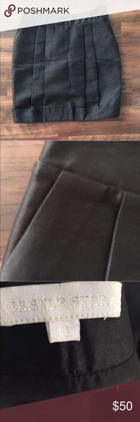 Castle Starr Black Balloon Silk/Wool Skirt Castle Starr Black Balloon Silk/Wool Skirt Like New Castle Starr Skirts Mini