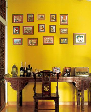 Amazing How The Yellow Wall Adds A Modern Touch To A Traditional Decor