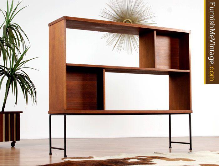 Living Room Divider Bookcase Bassett Mid Century Modern Hutch