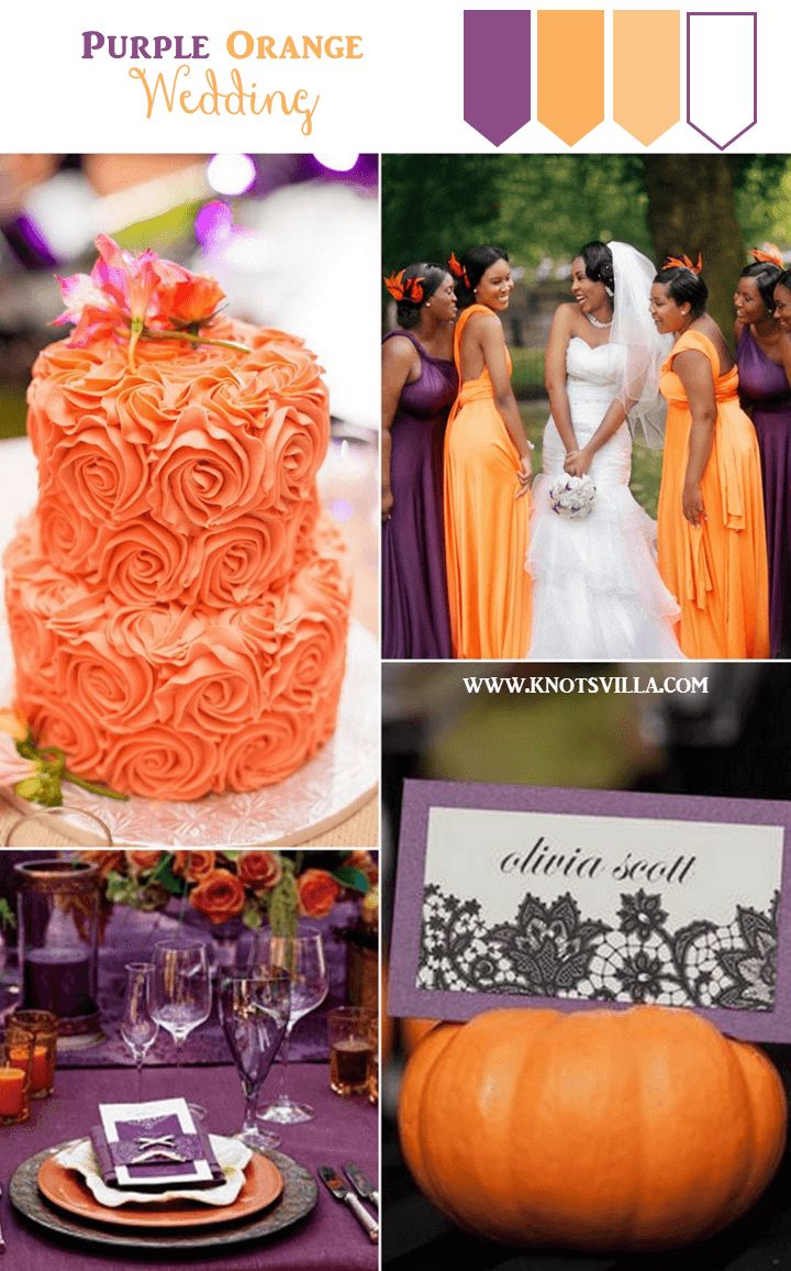 Fall colors Purple and Orange Wedding Inspiration » KnotsVilla
