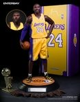 ENTERBAY proudly presents the Real Masterpiece: NBA collection and the first player from this high-end collectible figurine collection: Kobe Bryant. This fantastic 1/6-scale collectible figurine includes 2 head sculpts of museum-like representation of Kobe Bryant with authentic likeness, each with a different facial expression and features the newly developed NBA-KB body with 40 points of articulation. The figure's height is according to Bryant's actual height, therefore instead o