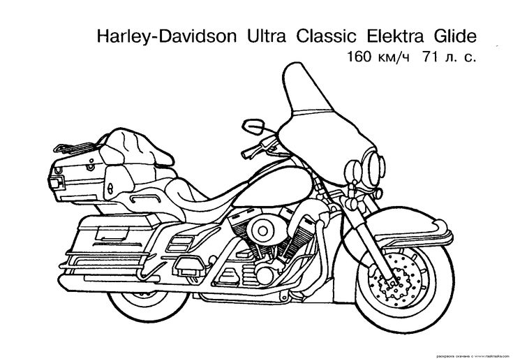 free motorcycle coloring page letscoloringpagescom harley davidson ultra classic coloring
