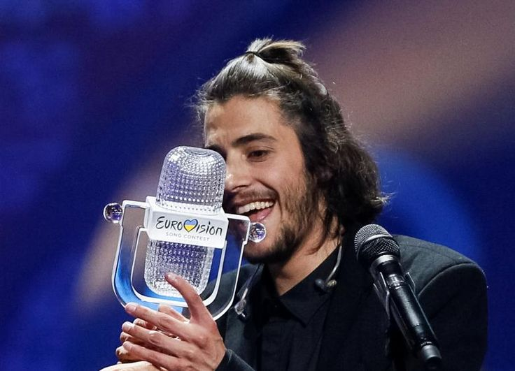 Portugal's Salvador Sobral celebrates after winning the grand final of the Eurovision contest for first time. (Gleb Garanich / REUTERS) http://pow.photos/2017/international-pow-9-15-may/