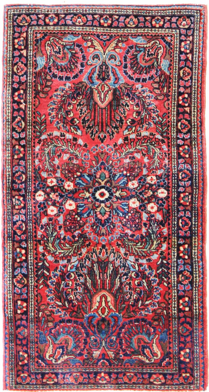 Antique Sarouk Rugs Gallery: Antique Sarouk Rug, Hand-knotted in Persia; size: 2 feet 1 inch(es) x 4 feet 1 inch(es)