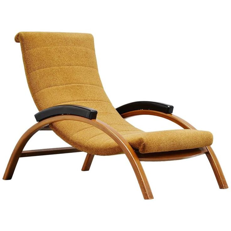 Unusual Italian Lounge Chair Adjustable, 1950 | From a unique collection of antique and modern lounge chairs at https://www.1stdibs.com/furniture/seating/lounge-chairs/