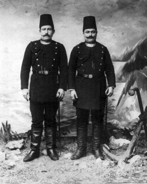 Late-Ottoman Navy Police. End of 19th century.
