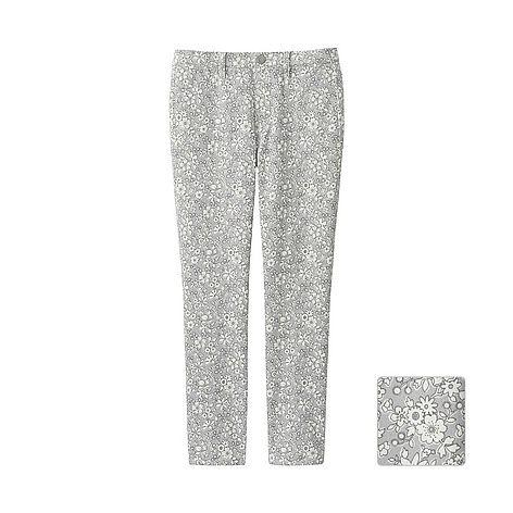 WOMEN LIBERTY LONDON Print Cropped Leggings Trousers