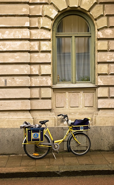 postman's bicycle by Georgios Karamanis, via Flickr