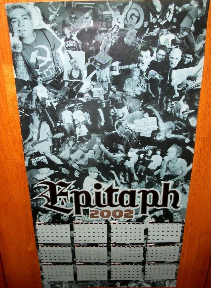 "Epitaph Records 2002 Promo Poster / 12"" x 24""  Bad Religion Agnostic Front RARE"