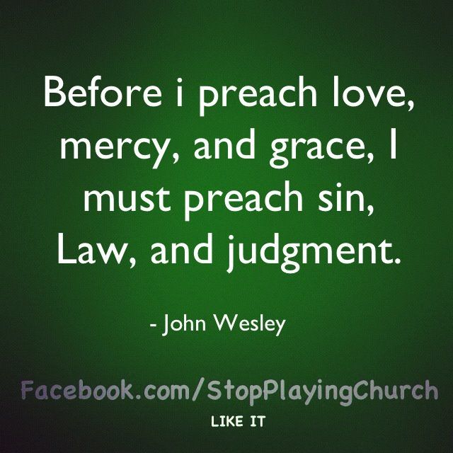Agree. Repentance and recognition of sin comes first.