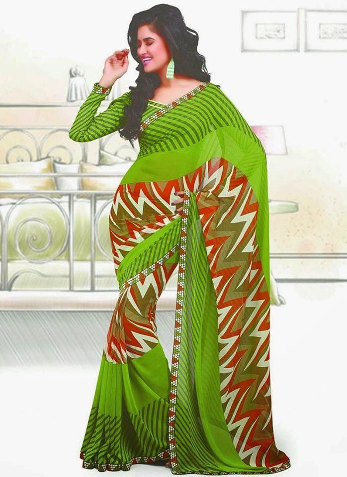 Cbazaar Sarees Collection For Girls 2014 | Stylish Summer And Pre Fall Wear Sarees For Girls
