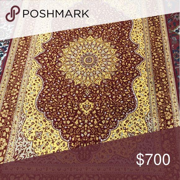 Persian silk hand made carpet Qum This 100 % Persi…