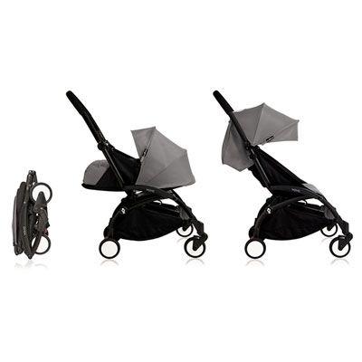 Poussette 4 roues yoyo+ by babyzen complète noire/grise Babyzen