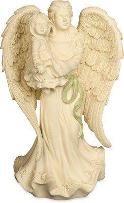 Precious: Een prachtig beeldje van een engel met een kindje in haar armen. Beschermengel of als troost bij overlijden.Hoogte: 17 cm.