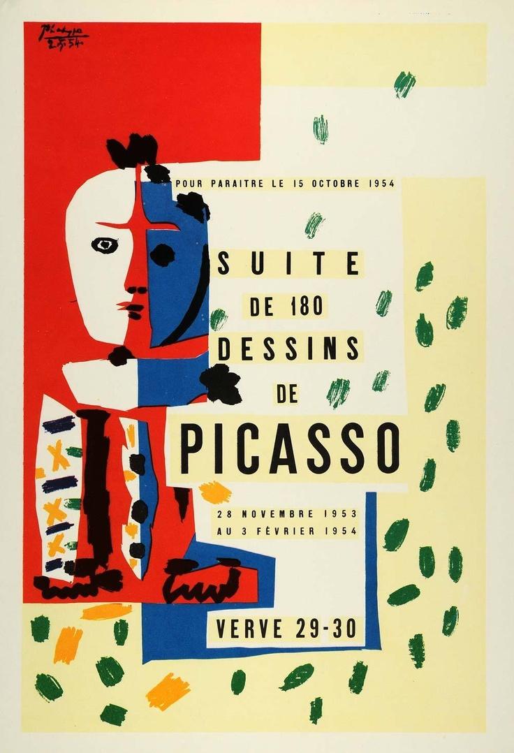 1957 Pablo Picasso Art Exhibit poster