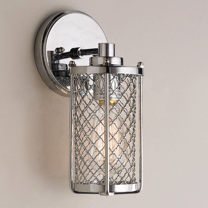 Check out Polished Chrome Mesh Sconce from Shades of Light