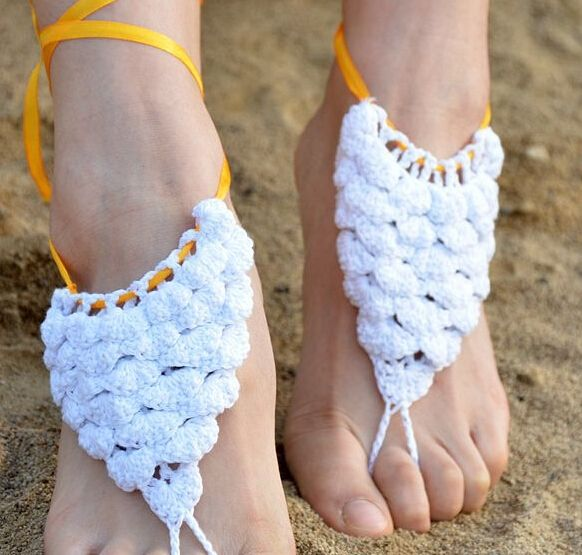 1.63$  Buy here - 2015 sexy handmade rope Anklet Crochet Barefoot Sandals,Brides Shoes,Beach Pool Wear Yoga,Beach Wear,Anklet,Hippy boho chic   #magazineonline
