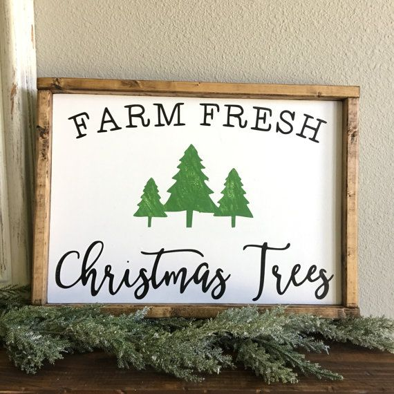 Farm Fresh Christmas Trees Sign by ThefarmhousemarketCo on Etsy