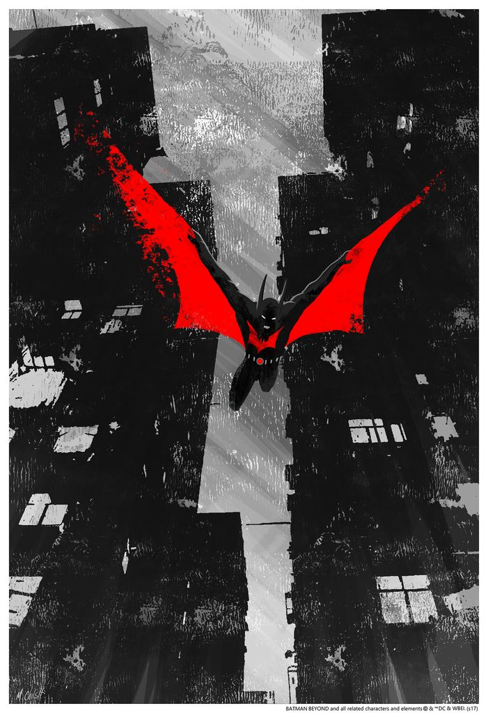 The Dark Knight Takes Flight in This Cool BATMAN BEYOND Print — GeekTyrant