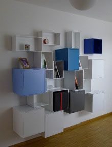 Contemporary style sectional bookcase CUBIT by Cubit by Mymito