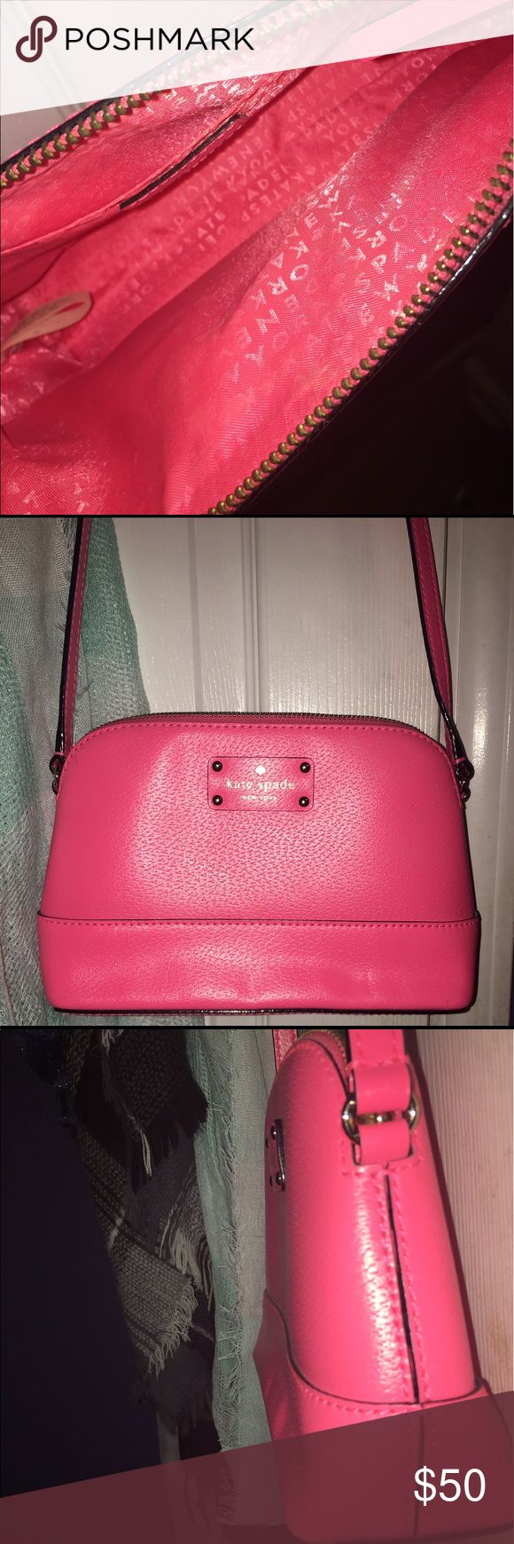 Kate Spade Small hot pink purse only used once kate spade Bags Shoulder Bags