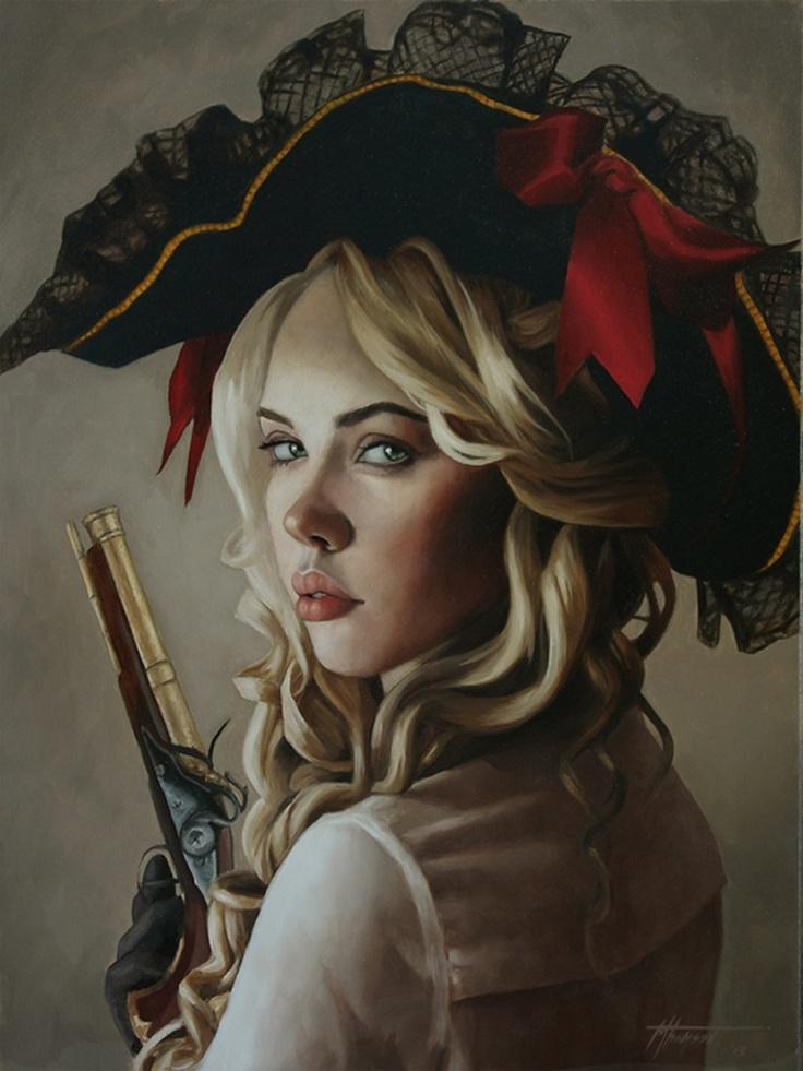 D.W.C. Pretty Girl - Painter Thomas M. Thomson