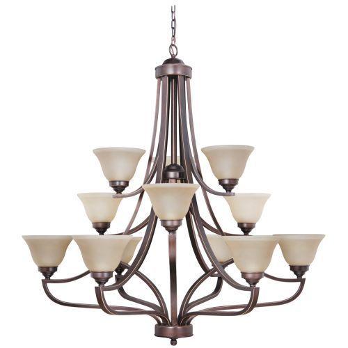 Jeremiah company c9845mb12 portia large foyer chandelier chandelier metropolitan bronze at ferguson com
