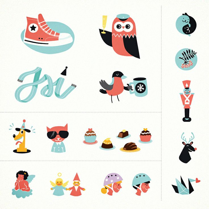 Spot illustrations for Alma media and Aamulehti. Over 200 images to be used in classified ads. Here's few of them.