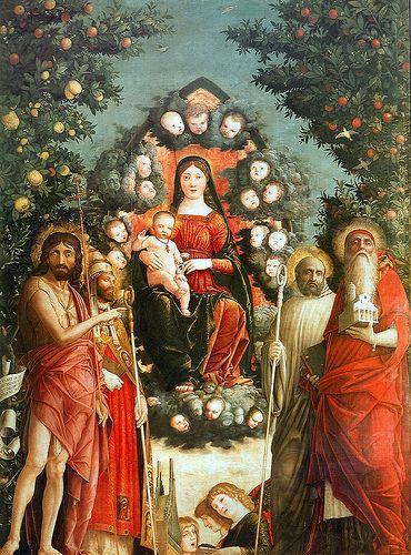 Trivulzio Madonna ANDREA MANTEGNA (Isola di Carturo, 1431 – Mantova, 13 settembre 1506)  #TuscanyAgriturismoGiratola