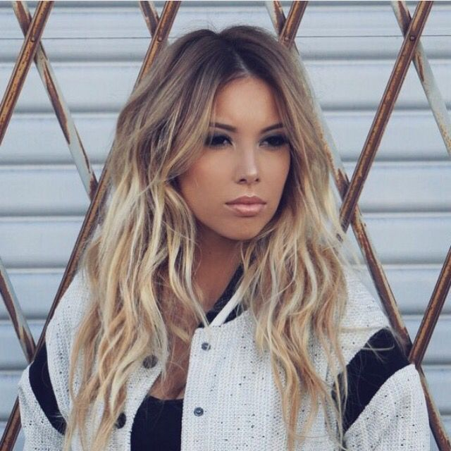 Dark golden blonde hair ombre
