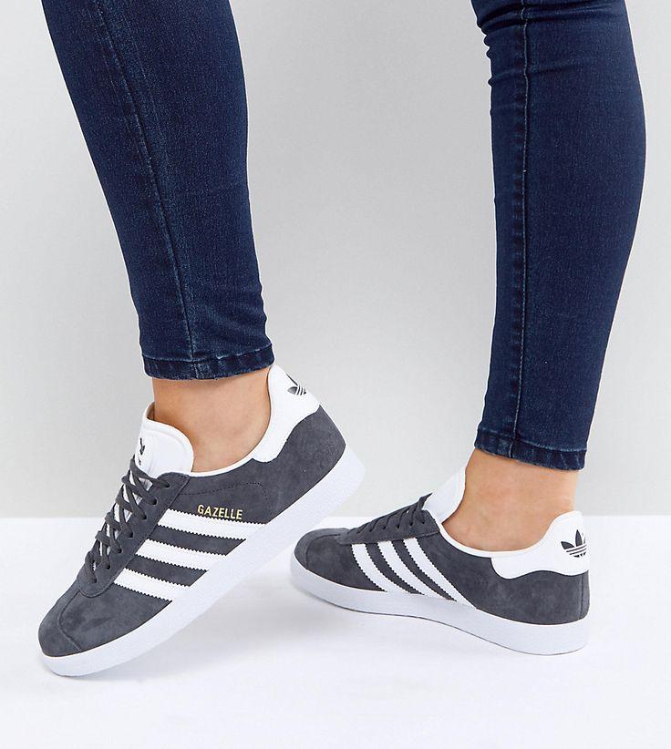 ADIDAS ORIGINALS ADIDAS ORIGINALS GAZELLE SNEAKERS IN DARK GRAY - GRAY. #adidasoriginals #shoes #