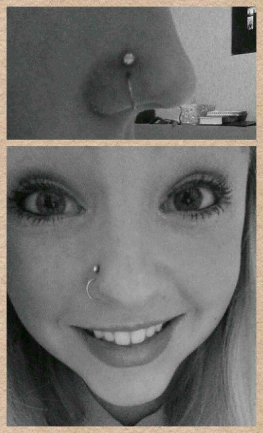 Double nose piercing | Piercings!!!!!! | Pinterest