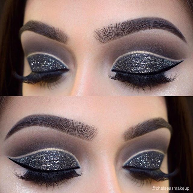 "Who's ready for #2017?! Love this smokey cut-crease by ✨@chelseasmakeup✨ wearing #LuxyLash ""KEEP IT 100"" lashes! Perfect look to ring in the new year! Gorgeous glitter! Tag a friend who would love this! SHOP: www.luxy-lash.com Clickthe link in our bio now!"