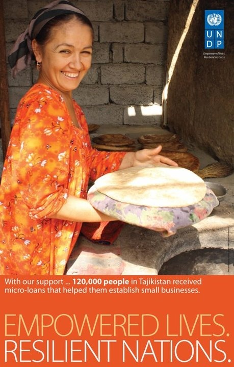 With UNDP support, 120,000 people in Tajikistan received micro-loans that helped them establish small businesses. Learn more about UNDP's work: on.undp.org/Q2pLtw #globaldev
