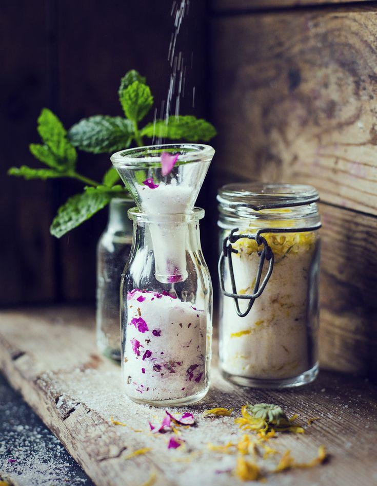 Eget Badsalt + Fotsalt – Citron & Ringblomma + Lavendel & Ros