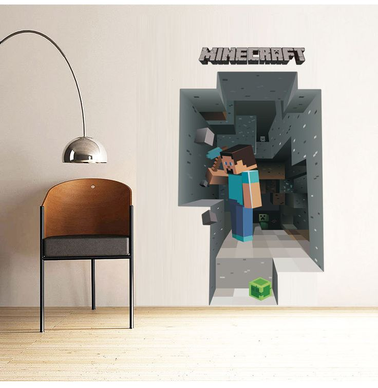 B Newest Minecraft Wall Stickers Wallpaper Kids Room Decal Minecraft Home Decoration Free Shipping-in Wall Stickers from Home & Garden on Aliexpress.com | Alibaba Group