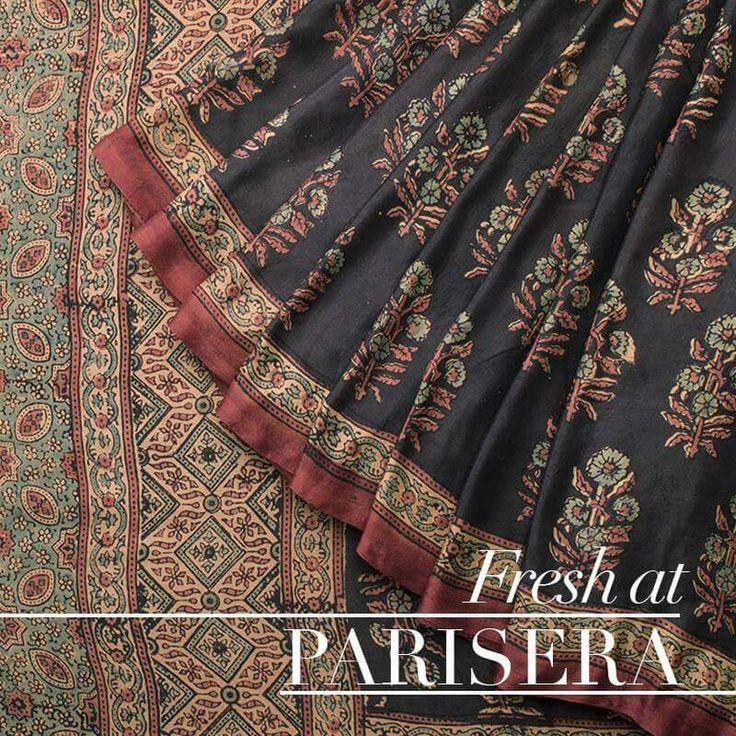 Ajrakh sarees from Urdir - Parisera