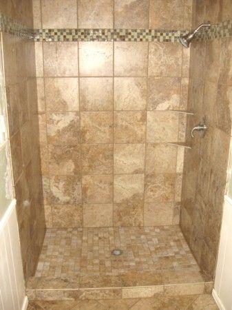 Open Shower Stalls