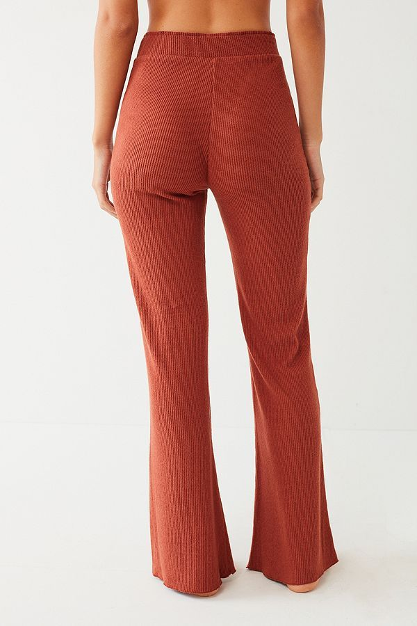 Missguided synthetic peace love nude embellished flared pants in natural